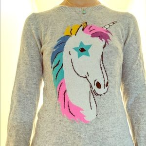 Cashmere unicorn sweater